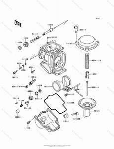 Kawasaki Motorcycle 1998 Oem Parts Diagram For Carburetor