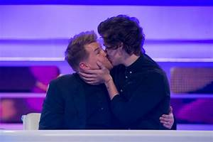 Pictured: Harry Styles kisses James Corden in the name of ...