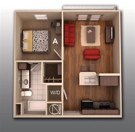 u shaped kitchen with island 50 one 1 bedroom apartment house plans architecture