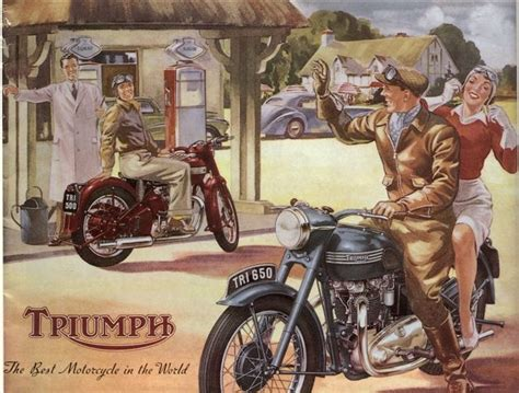 Motorcycle Posters, Pinups, Ads And Art