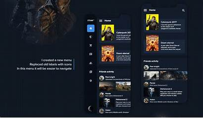 Steam Redesign Mobile Behance Modules
