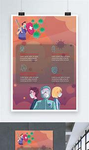 Covid 19 coronavirus protection poster template image ...