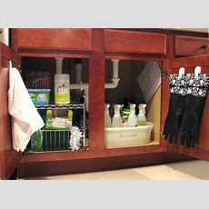 Organizing Under The Sink  Living Rich On Lessliving Rich