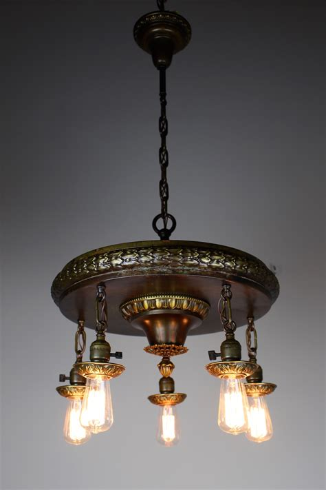 light neoclassical revival dining room fixture