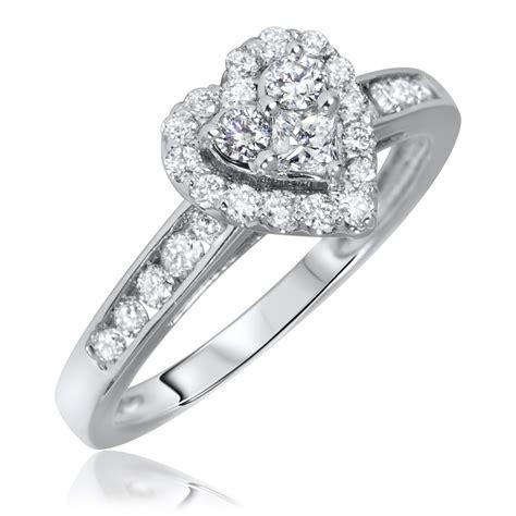 10 carat engagement ring 2 3 carat t w princess cut engagement ring 10k white gold my trio rings