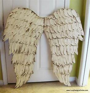 Distressed white angel wing wall art crafts