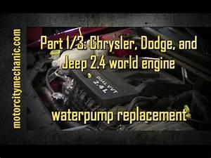 Part 1  3  2013 Dodge Avenger 2 4 Liter Waterpump Removal