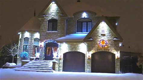 luxury homes decorated  christmas lights youtube