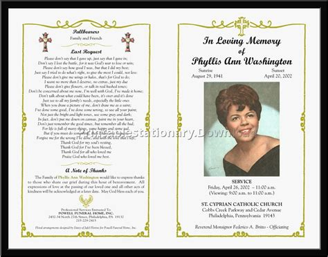 funeral program template qualads