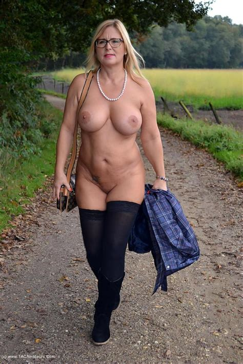 Walking Nude In The Rain