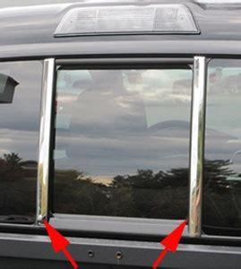 toyota tacoma chrome rear window pillar trim