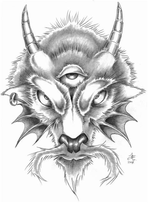Capricorn goat head tattoo design - Tattoos Book - 65.000 Tattoos Designs