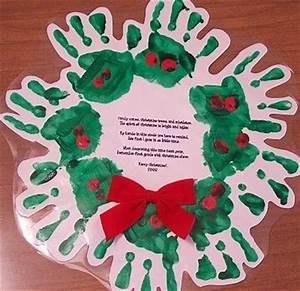 Handprint wreath with poem Preschool items Juxtapost
