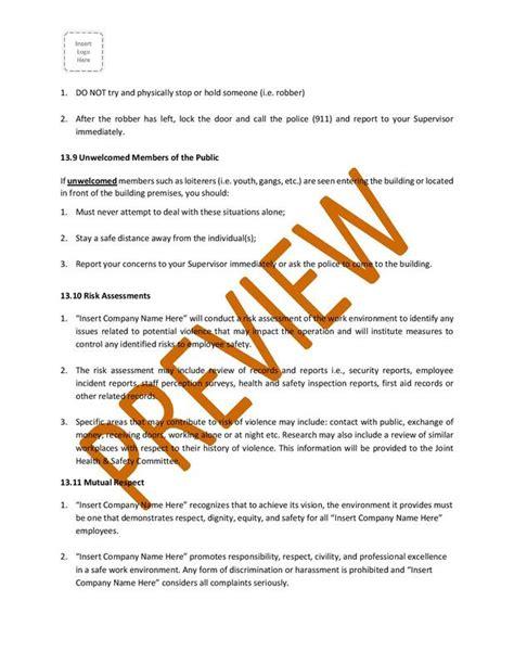 health  safety program manual ontario  ohsmanualsca