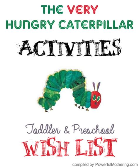 the hungry caterpillar activities 836 | The Very Hungry Caterpillar Activities Toddler and preschool wish lists