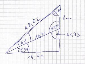 Entfernung Berechnen Km : trigonometrie durch zwei winkel und h he der balkont r entfernung vom haus berechnen mathelounge ~ Themetempest.com Abrechnung