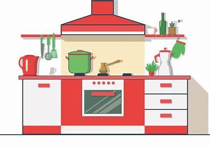 Clipart Living Kitchen Furniture Icon Transparent Flat