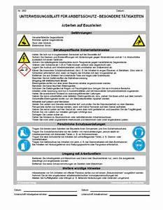 Bg Bau Rechnungen Vorlegen : unterweisung arbeiten auf baustellen sofort download ~ Lizthompson.info Haus und Dekorationen