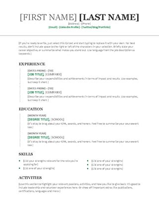 chronological resume cv modern design resumes and cover letters office