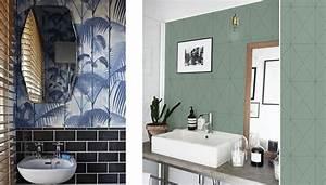 Papier Peint Pour Salle De Bain : tapisserie salle de bain meilleures images d 39 inspiration ~ Dailycaller-alerts.com Idées de Décoration