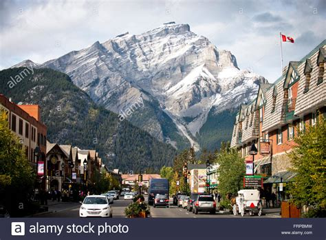 The Picturesque Town Of Banff, Canada Stock Photo