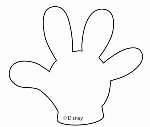 Free printable mickey mouse gloves number 2 clipartsco for Free mickey mouse hand template