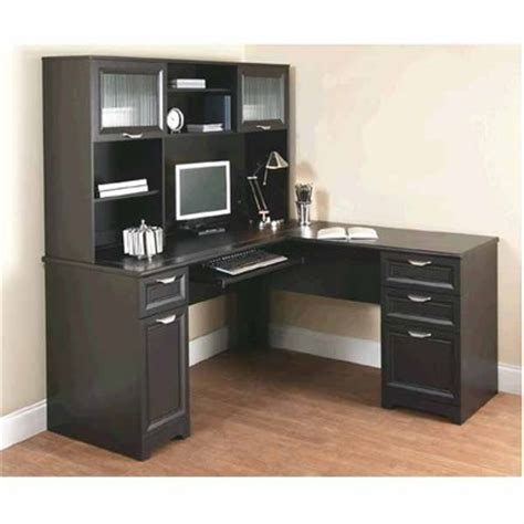 office max computer desk officemax deal realspace magellan â œlâ desk and hutch