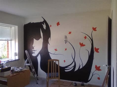 wall decal quotes silhouette paintings transform wallls with cool silhouette paintings ideas