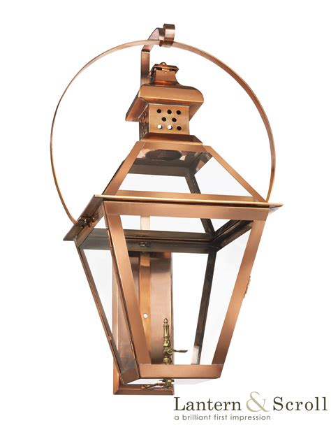 t 42 wall light copper lantern gas and electric lighting