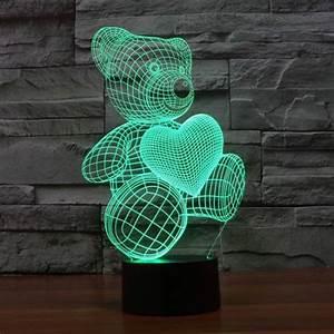 3d Led Lamp Design Illusion Model 4 3d Led Lamp