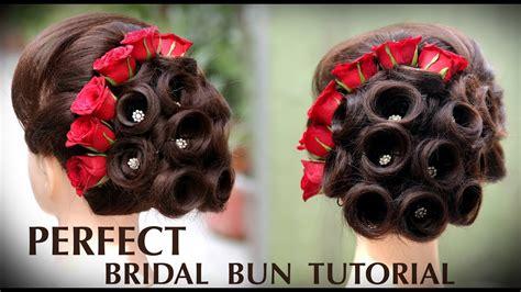 perfect bridal bun bridal juda kaise banaye ladies