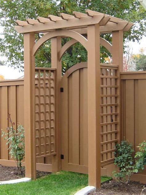 best 25 garden gate with arbor plans build a garden arbor
