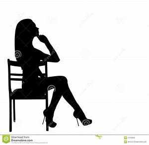 Woman sitting on a chair stock photo. Image of heel, model ...