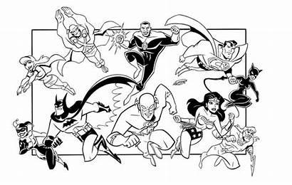 Coloring Pages Justice League Dc Comics