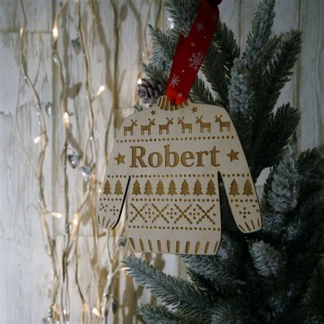 christmas jumper decorations by wendover wood