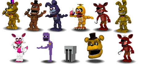 Fnaf Onwithered Characters Canon By Aidenmoonstudios On