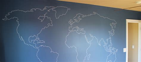 remodelaholic world map outline mural