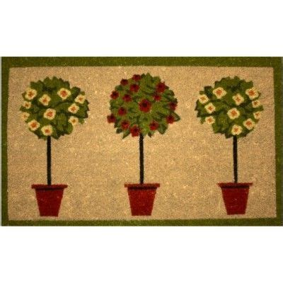 Topiary Doormat by Topiary Doormat 163 10 45 Printed Design With Rubber Backing