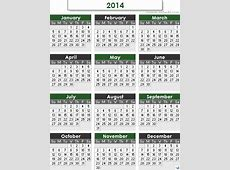 Fun2Run 2014 Event Calendar of some major international