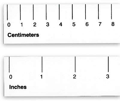 Centimeter Ruler Actual Size Inches