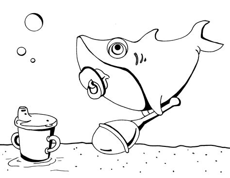 baby shark coloring page shark coloring pages