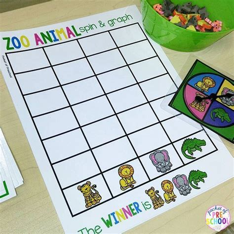 zoo math and literacy centers for preschool pre k and 644 | 11e9417d45e8ce2a63103721c1713945