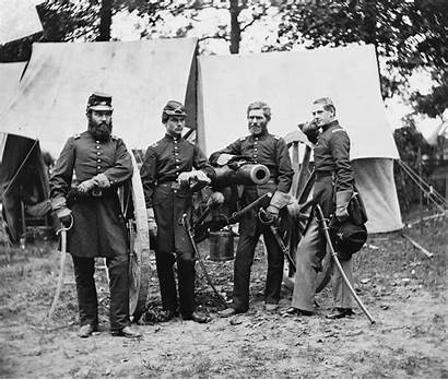 Union Officers July Cannon Posing Fair Camp