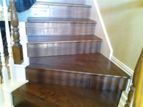 wood tile stairs what type of border needed for tiling stairs
