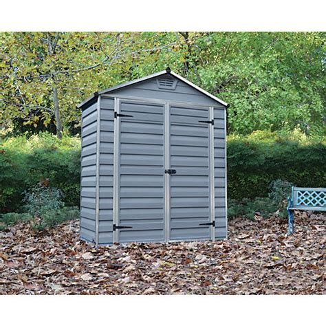 6 x 3 shed palram skylight door plastic shed grey 6 x 3 ft