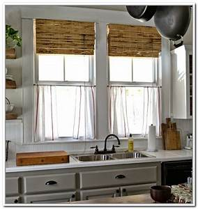 beautiful linen cafe curtains for windows homesfeed With kitchen colors with white cabinets with window stickers for home privacy