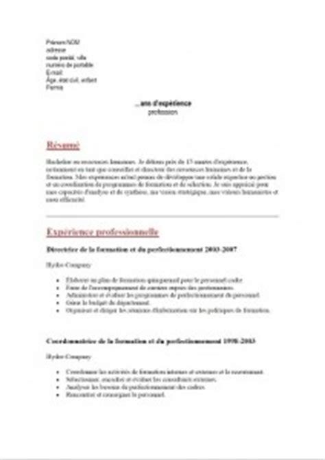 Exemple Cv Télécharger by Resume Format Changer De Format Un Cv