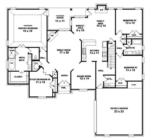 4 bedroom floor plans 2 653964 two 4 bedroom 3 bath country style