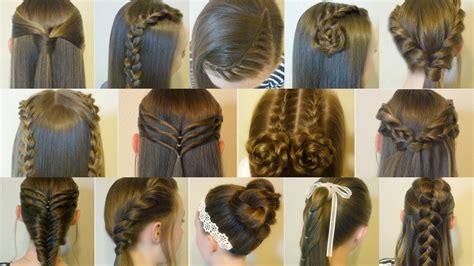easy hairstyles  school compilation  weeks
