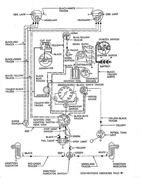129: wiring diagram Anglia 3 brush dynamo pre 1953 | Ford